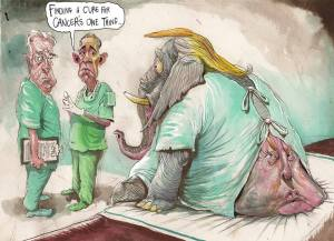 Donald Trump GOP CANCER DAVID ROWE AUSTRALIA