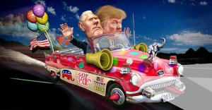 Donald Trump Pence GOP Clown Car