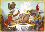 Gillray England France Carving Up World