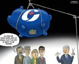Harper Dropping Writ Toon MacKay