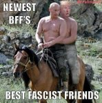 Donald Trump Putin Horse BFFs