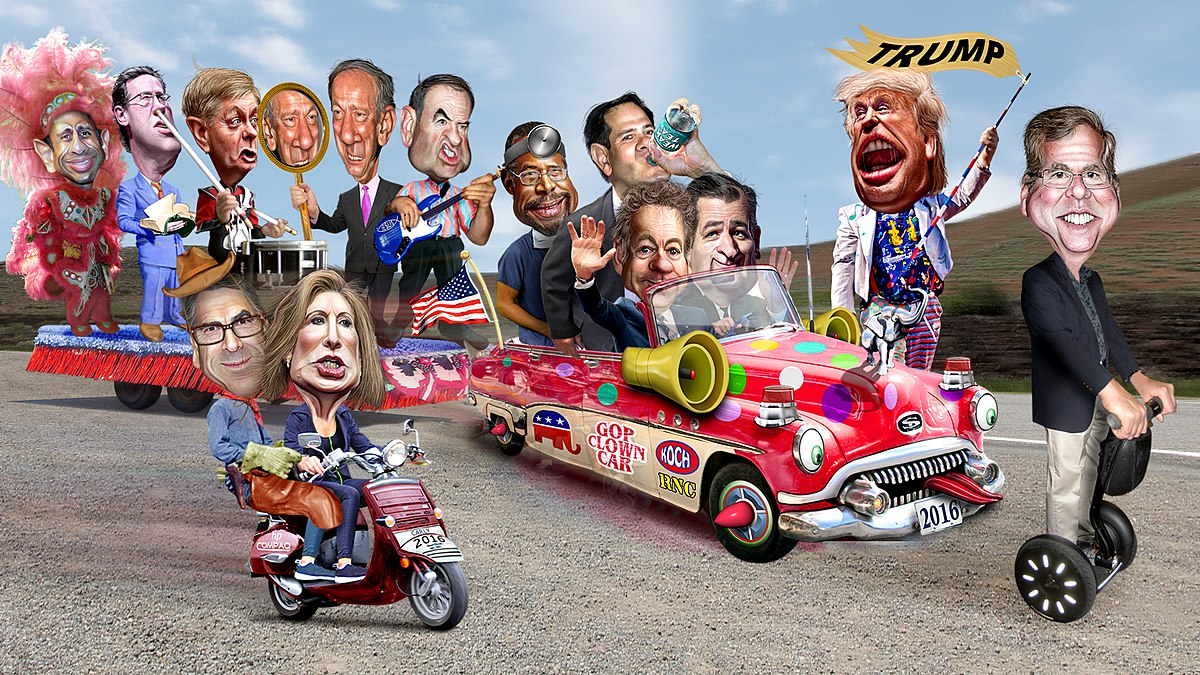 GOP Clown Car Donkey Hotey