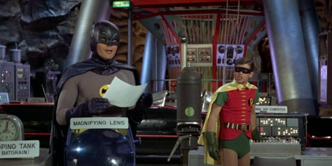 BatCave Adam-West-Batman-Burt-Ward-Robin-Batcave
