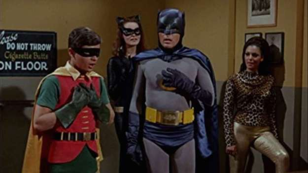 Batman Robin in a Bar